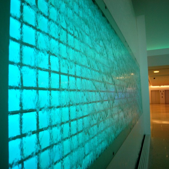 Interactive LED water wall