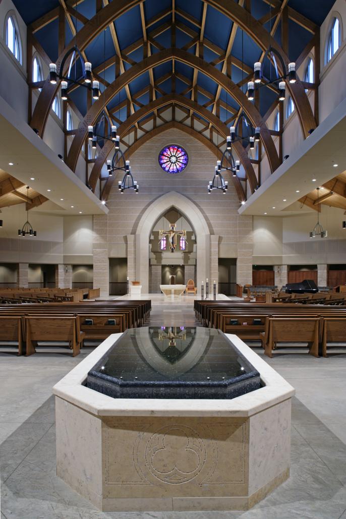Negative Edge Baptismal Font, St. Clare Church, Shiloh, IL