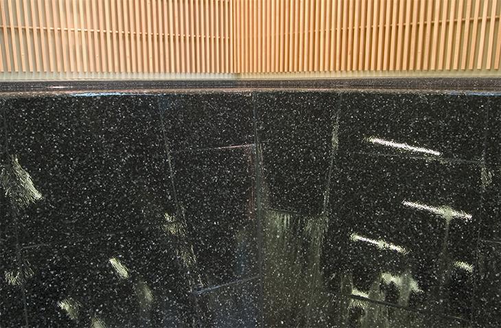 Negative edge reflecting pool, detail