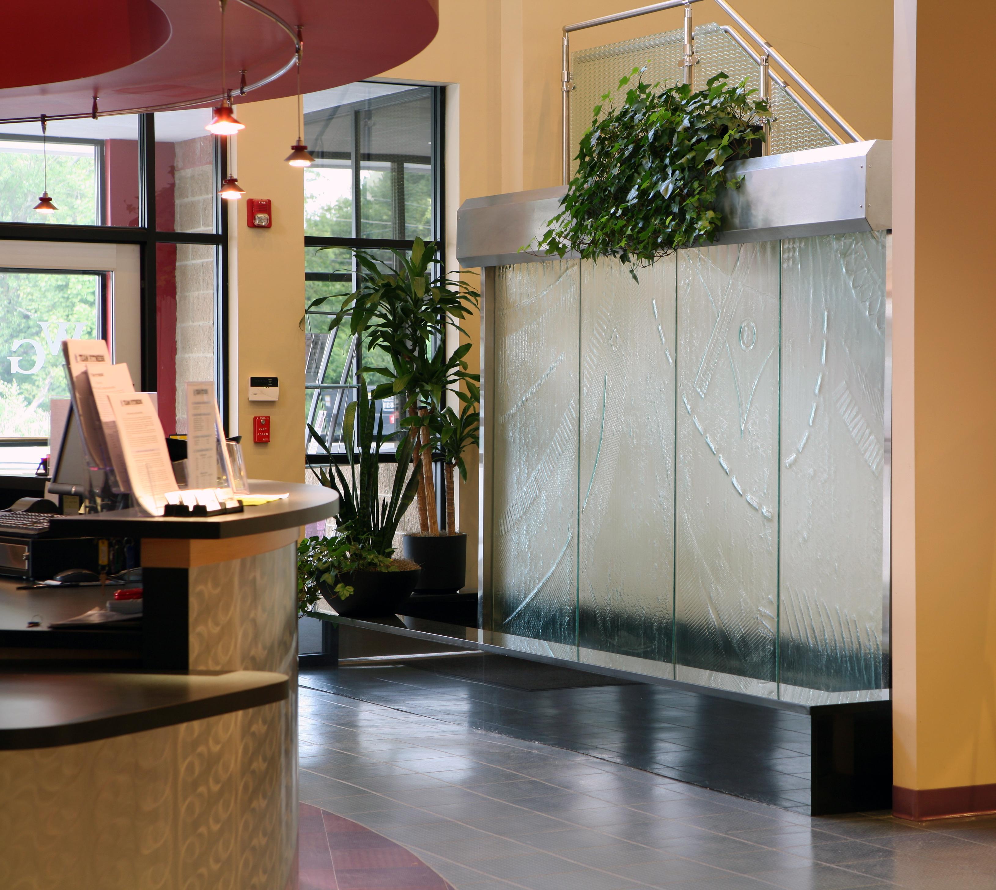 Art Glass Reception Water Wall Gallery
