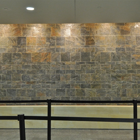 Granite water wall, Nashville International Airport, Nashville, TN.