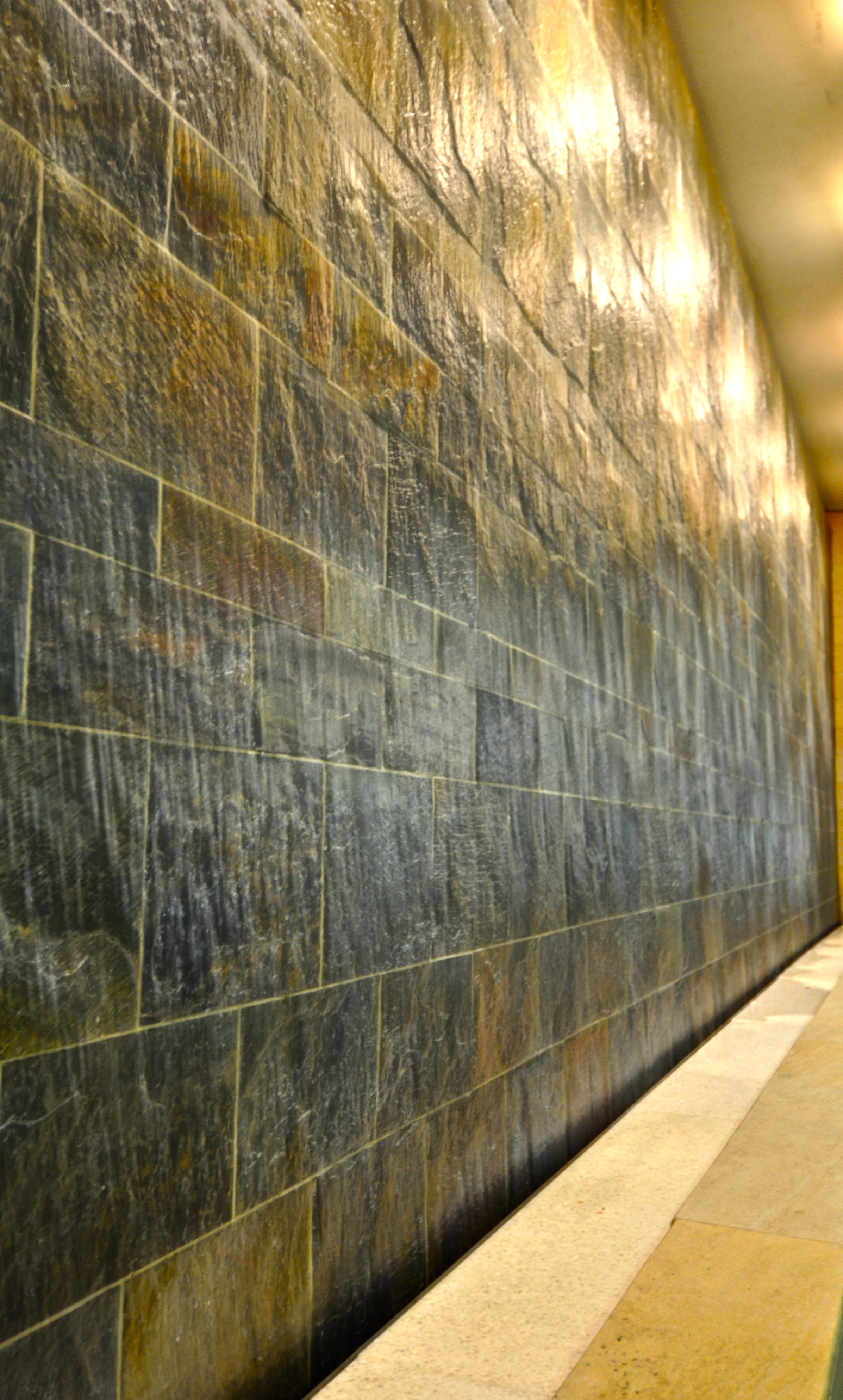 Granite water wall, Nashville International Airport, Detail, Nashville, TN.